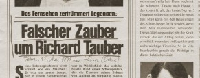 Falscher Zauber um Richard Tauber