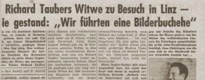 Richard Taubers Witwe zu Besuch in Linz