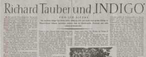 """Richard Tauber und """"Indigo"""""""