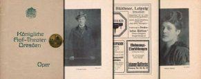Programmheft Kgl. Hof-Theater Dresden 1918