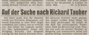 Auf der Suche nach Richard Tauber
