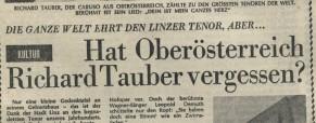 Hat Oberösterreich Richard Tauber vergessen?