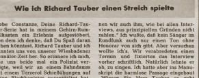 Wie ich Richard Tauber einen Streich spielte
